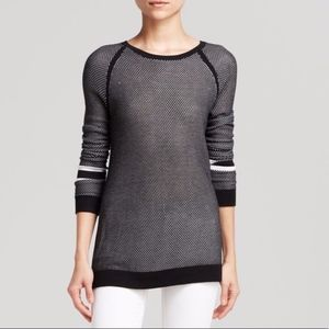 Rag & Bone Black White Perforated Pullover Sweater